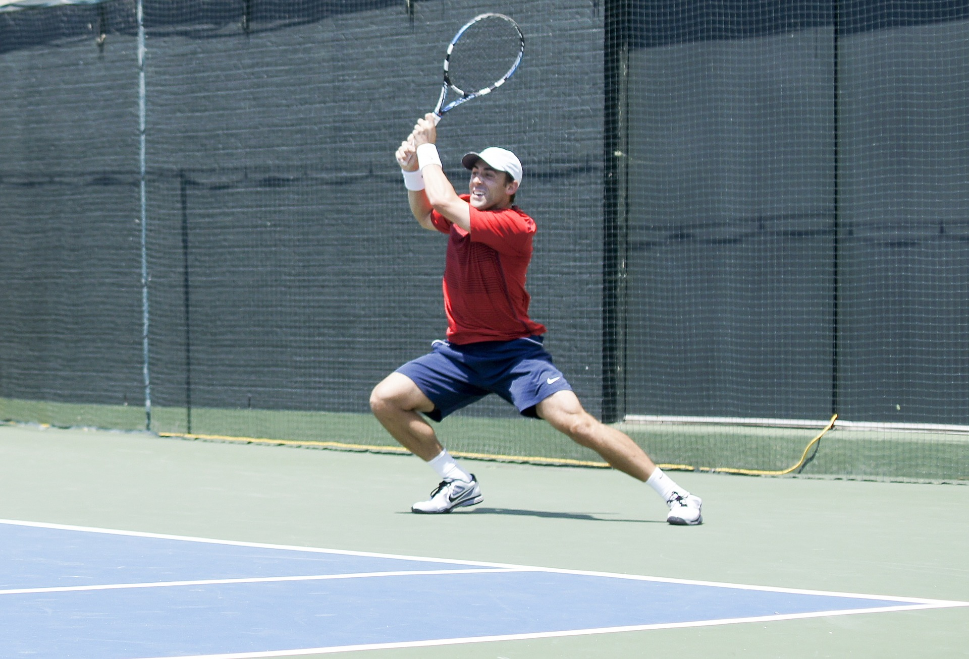 Tennis Player in athletic position